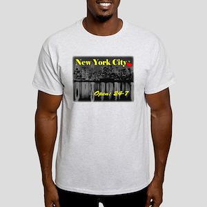 NYC 24-7 Ash Grey T-Shirt