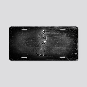 Skeleton Grim Reaper Aluminum License Plate