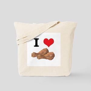 I Heart (Love) Chicken (Drumsticks) Tote Bag