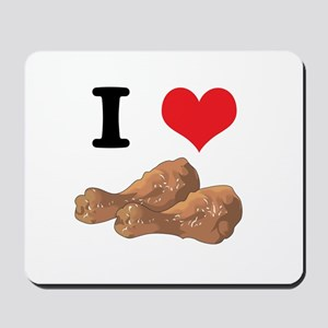 I Heart (Love) Chicken (Drumsticks) Mousepad