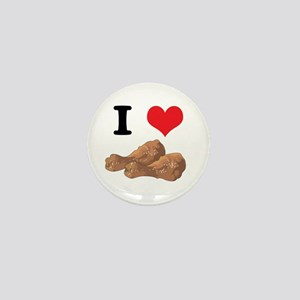 I Heart (Love) Chicken (Drumsticks) Mini Button