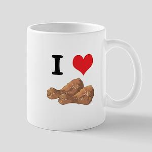 I Heart (Love) Chicken (Drumsticks) Mug