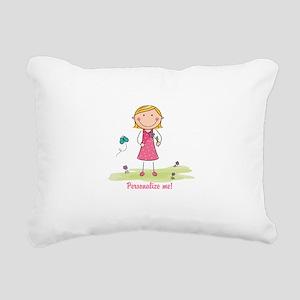 Cute girl - personalize Rectangular Canvas Pillow