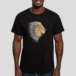 Lion Head Men's Fitted T-Shirt (dark)