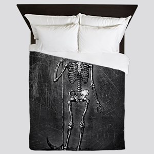 Skeleton Grim Reaper Queen Duvet