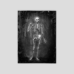 Skeleton Grim Reaper 5'x7'Area Rug