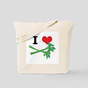 I Heart (Love) Celery Tote Bag