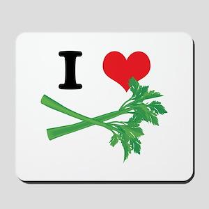 I Heart (Love) Celery Mousepad