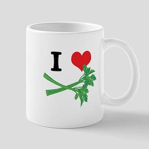 I Heart (Love) Celery Mug