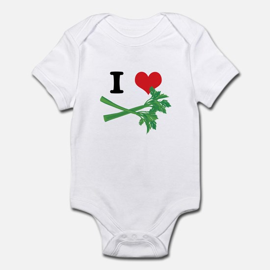 I Heart (Love) Celery Infant Bodysuit