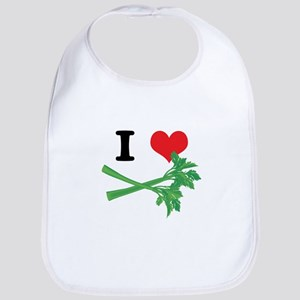 I Heart (Love) Celery Bib