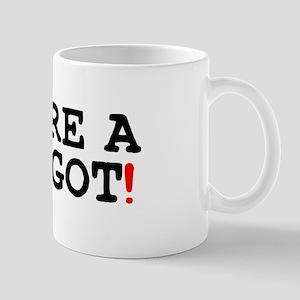 YOURE A MAGGOT! Small Mug