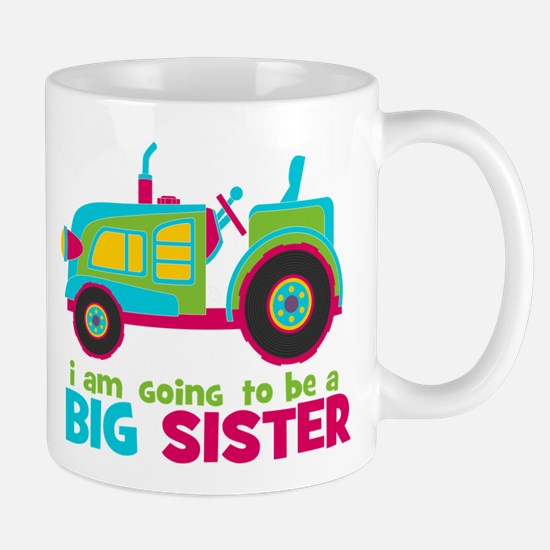 I am going to be a Big Sister - Tractor Small Mug