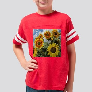 sunflower cluster tile Youth Football Shirt