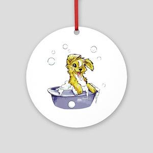 Doggie Dog Wash Ornament (Round)