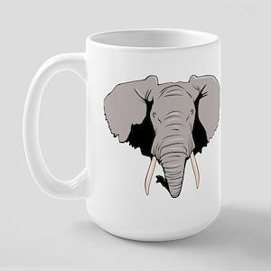 Elephant Right-handed Large Mug