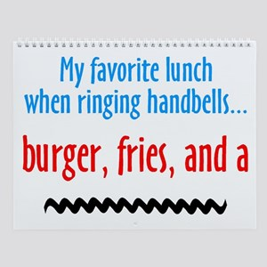 Burger Fries and a Shake Wall Calendar