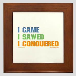 'I Came, I Sawed...'  Framed Tile