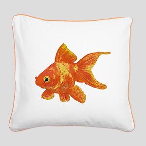 Goldfish Square Canvas Pillow