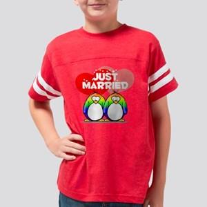Just Married Rainbow Youth Football Shirt