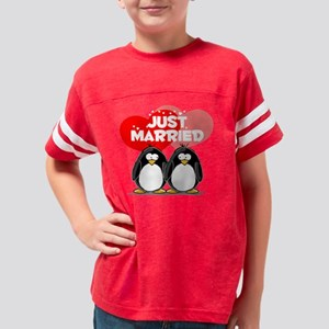 Just Married Youth Football Shirt