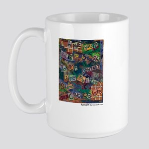 Ransom Note Art Quilt Large Mug