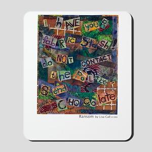 Ransom Note Art Quilt Mousepad