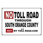No Toll Road Through South Orange County Banner