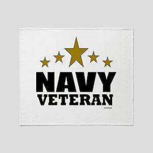 Navy Veteran Throw Blanket