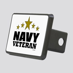 Navy Veteran Rectangular Hitch Cover