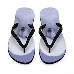 Standard Poodle (White) Flip Flops
