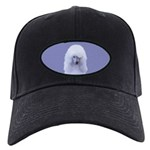 Standard Poodle (White) Black Cap with Patch