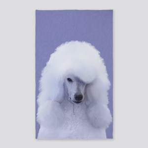 Standard Poodle (White) Area Rug