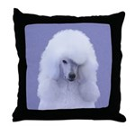 Standard Poodle (White) Throw Pillow