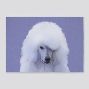 Standard Poodle (White) 5'x7'Area Rug