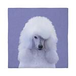 Standard Poodle (White) Queen Duvet