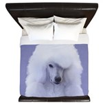 Standard Poodle (White) King Duvet