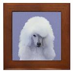 Standard Poodle (White) Framed Tile