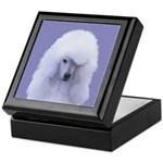 Standard Poodle (White) Keepsake Box