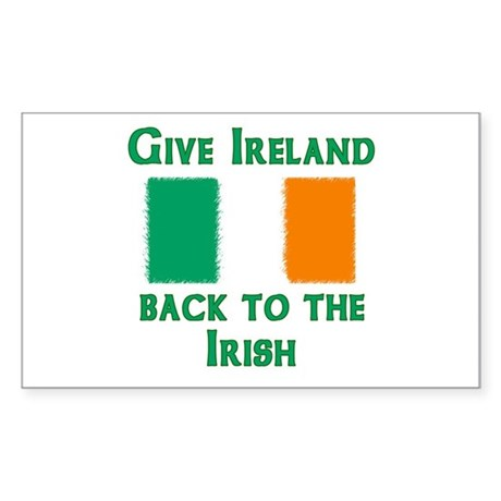 Give Ireland Back Rectangle Sticker
