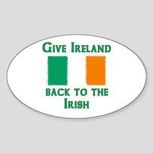 Give Ireland Back Oval Sticker