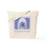 Standard Poodle (White) Tote Bag