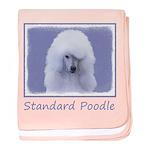 Standard Poodle (White) baby blanket