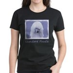 Standard Poodle (White) Women's Dark T-Shirt