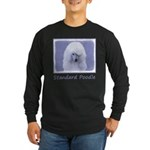 Standard Poodle (White) Long Sleeve Dark T-Shirt