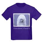 Standard Poodle (White) Kids Dark T-Shirt