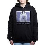 Standard Poodle (White) Women's Hooded Sweatshirt