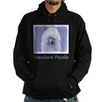 Standard Poodle (White) Hoodie (dark)