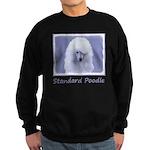 Standard Poodle (White) Sweatshirt (dark)