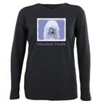Standard Poodle (White) Plus Size Long Sleeve Tee